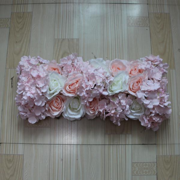NEW Flower wall wedding road lead artificial silk rose Hydrangea for Wedding arch square pavilion corners decorative 10pcs/ lot