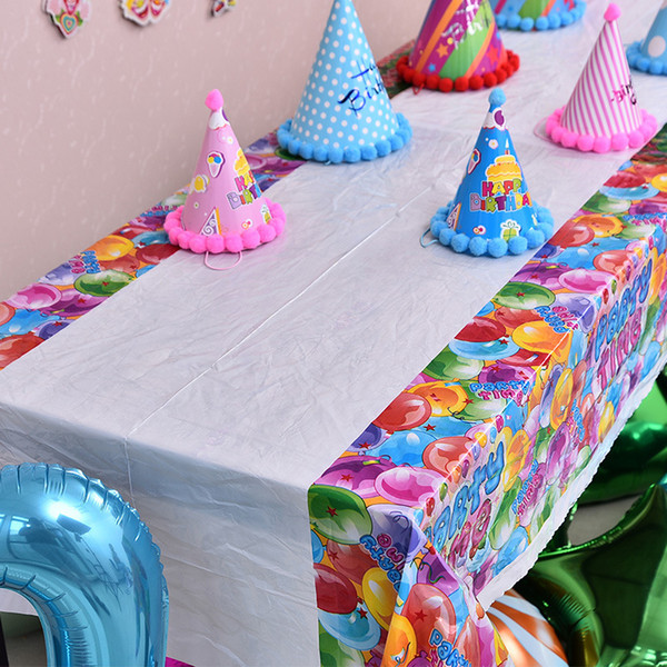 Wholesale  1PC 108*180cm Disposable Cute Cartoon Tablecloth Children Kids  Birthday Party Decoration Plastic