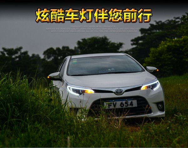 Dedicated to the for Toyota Rai Leng headlamp assembly led light guide daytime running lights double light lens xenon headlamps