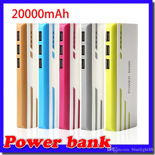 best selling New Style Romoss 20000mAh Power Bank 3USB External Battery With LED Portable Power Banks Charger For iPhone 6s Samsung s6 Android Phones