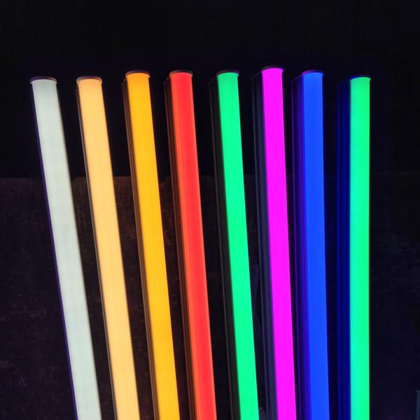 T5 T8 LED Röhren Farbe leuchtet 4ft 3ft 2ft 1ft AC220V 18W-5W Rot Rosa 2835SMD Leuchtstofflampen Lampen direkt von Shenzhen China Manufacturing