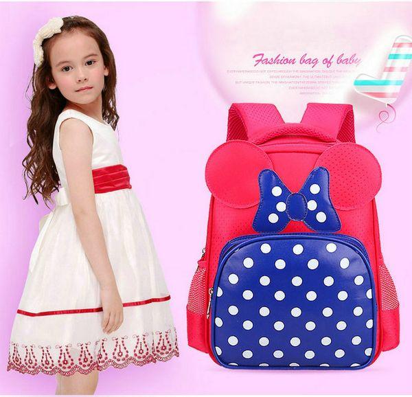 Fashion Butterfly Design Bambini Cartoon Schoolbag Baby Kindergarten Pink Rose Spalle Borsa da viaggio Borsa da viaggio Daypack Per ragazze Bambini