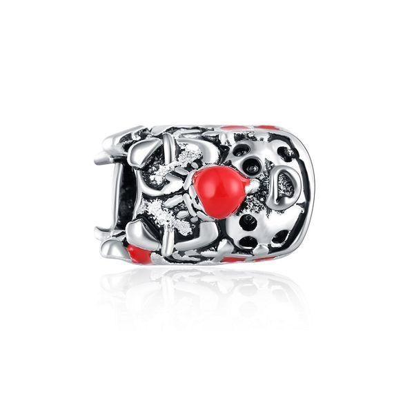 Santa Claus Hot Sale Sledges Alloy Red Christmas Decoration Accessories Fit Pandora Bracelet Fashion Jewelry DIY Charm Brand