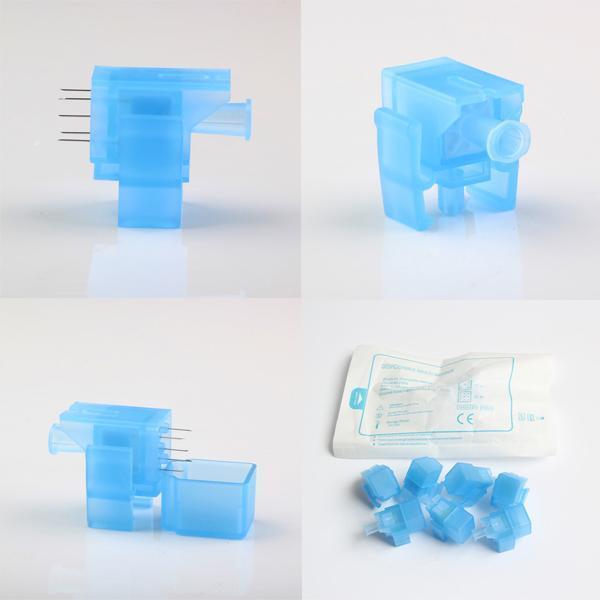 Wasser Meso Injector Gun Nadel Mesotherapie Gun mit 5 Nadeln Nadeln Einweg Mesoneedle Injektion Serum Hautverjüngung