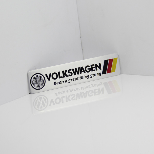 Germania Bandiera nazionale Racing Car Sticker Fit per Volkswagen Vw Plol Golf 6 Metal R Badge Motorsport Car Thin metallo alluminio Emblem