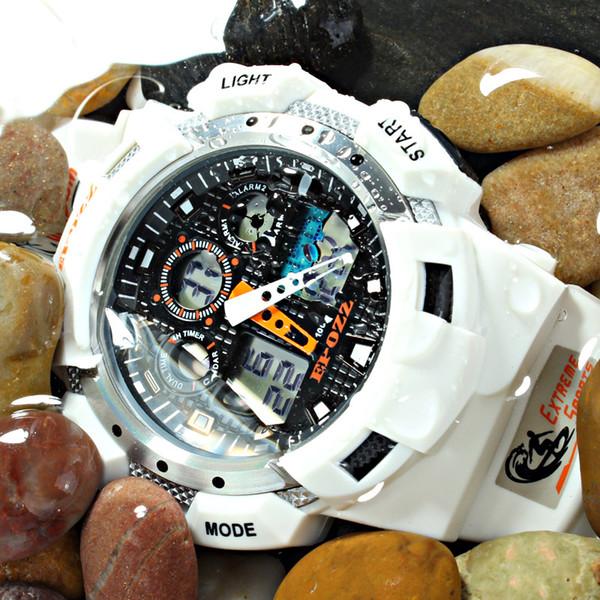 EPOZZ high quality watches men synchronize MOV 100M water resistant 1 year warranty white sport wrist watch E3001WHITE