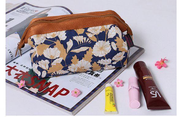 10pcs 19*13*10cm Flamingo Printing Capacity Cosmetic Case Ladies Makeup Bag Crown Jewels and Sailing Travel Bags