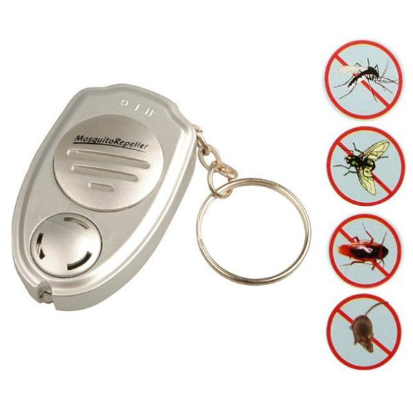 Al por mayor-Salud Bueno Universal ultrasónico anti mosquito insecto asesino de plagas repelente repelente llavero Shain llavero electrónica inteligente