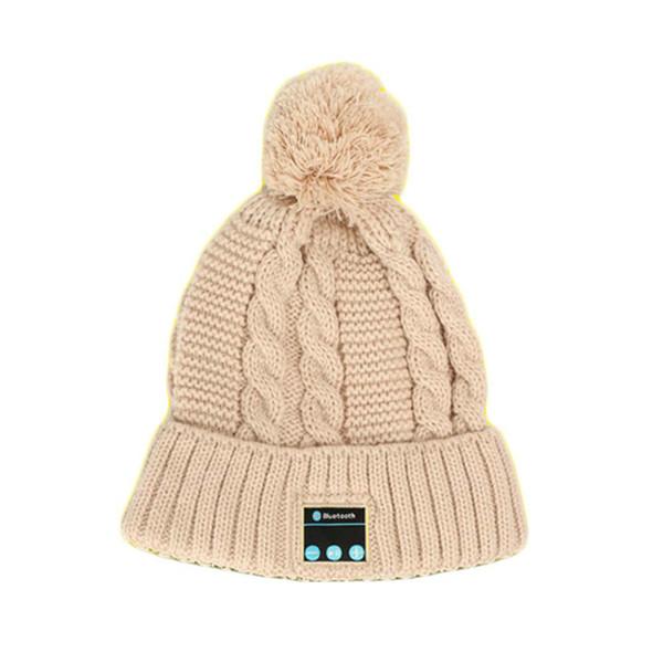 Soft Warm Beanie knit Hat Wireless Bluetooth Smart Cap Headphone Headset Speaker Mic for mobile phone