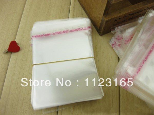200 sacs à bonbons en plastique autocollant transparent avec joint plastique