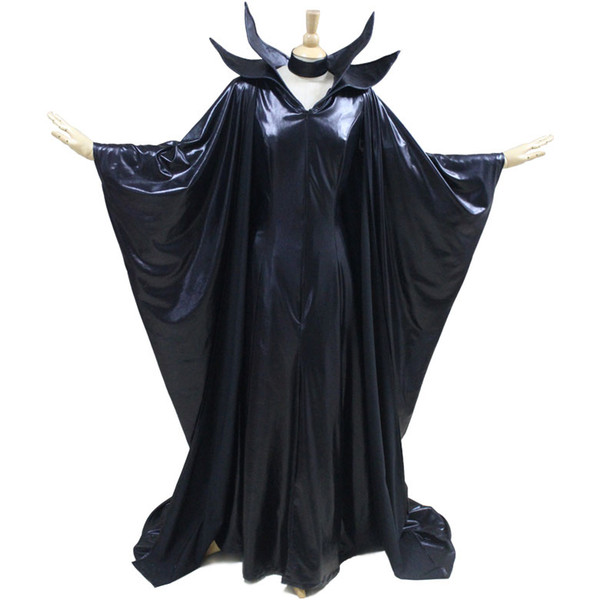 2016 Halloween Black Adult Women Costume Maleficent Sexy Angelina Witch Cosplay Dress Costume Funny Team Costumes Movie Group Costumes From