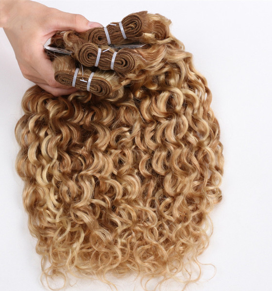 Pelo de Remy - paquete del pelo de la onda del agua 100% del pelo humano que teje TangleShedding libre 100g / pc 3 PC / porción DHL libre