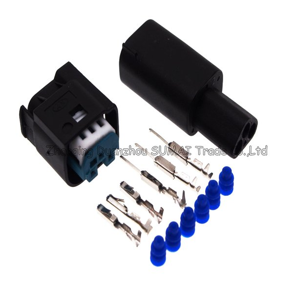 TE/AMP 3 Pin/way male&female auto restrictor sensor plug connector,Throttl/Taillight plug,auto waterproof electrical plug for BMW