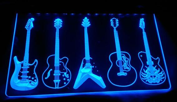 LS1338-b-Guitar Weapons Band Room LED Neon Sign Decor Free Shipping Dropshipping Wholesale 6 colors to choose