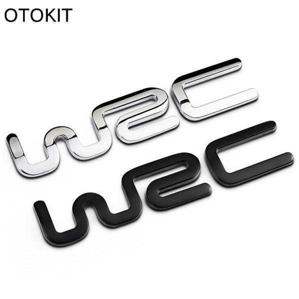 Alloy WRC 3D Metal Auto Car Badge Emblem Sticker for Toyota Yaris Ford Fiat Citroen Audi SUZUKI Volkswagen VW Golf Cruze