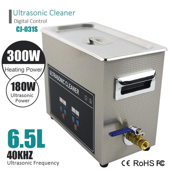 O tanque inoxidável do banho ultrassônico esperto da lavagem do líquido de limpeza de Digitas encabeça o ultra-som de 3L 120W 6L 180W 40KHz para os relógios dos vidros da jóia dentais
