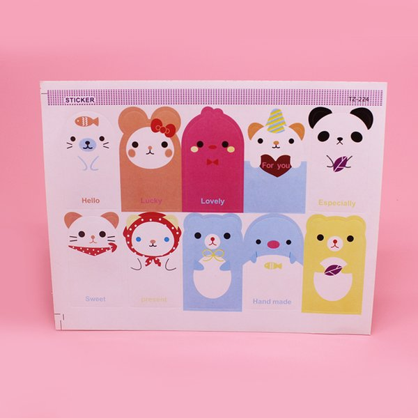 100 pcs 10 different Designs Animal Seal Sticker baking package paper tags labels