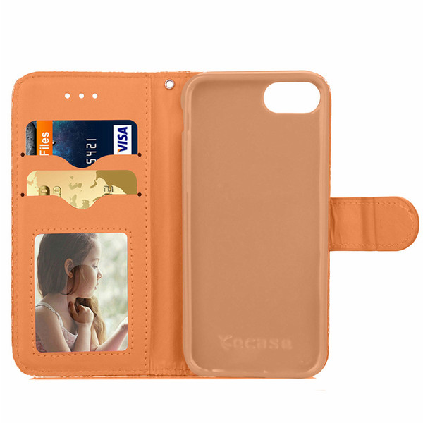 3D Rhombus Pattern Cell Phone Wallet Bag Case three-dimensional Leather Cover With ID Card Slot Holder Skin Shell For Iphone 7 7 Plus