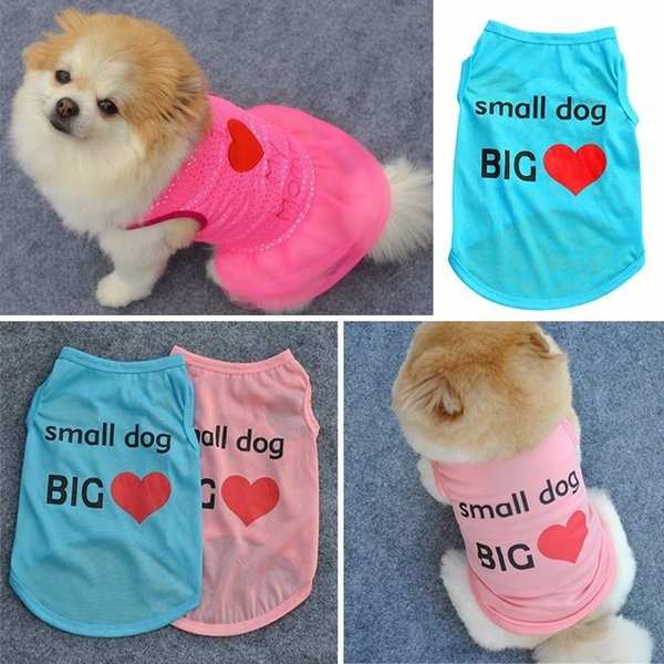 2019 I Love My Mom/Dad Printed Small Dog Printed Dog Cat Puppy Clothes  Shirt Dress Pet Costumes From Moigo, $1 49 | DHgate Com