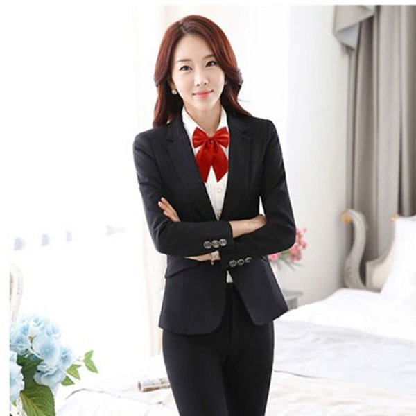 top popular Fashion Women's Knot Bow Tie Women Butterfly Female Girl Student Hotel Clerk Waitress Neckwear Ribbon Ties 2020