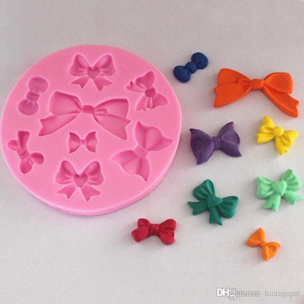 Belle Bowknot forme Chocolat Bonbons Jello 3D silicone fondant dentelle Moule Moule gâteau décoration / pâtisserie outils