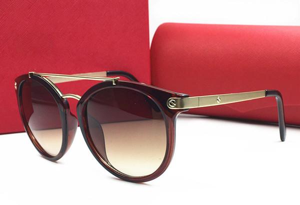 Toptan Yeni Moda Marka Karen Kadınlar Yuvarlak Çerçeve kırmızı Ok Polarize Güneş Erkekler Walker Sürüş Güneş gözlükleri
