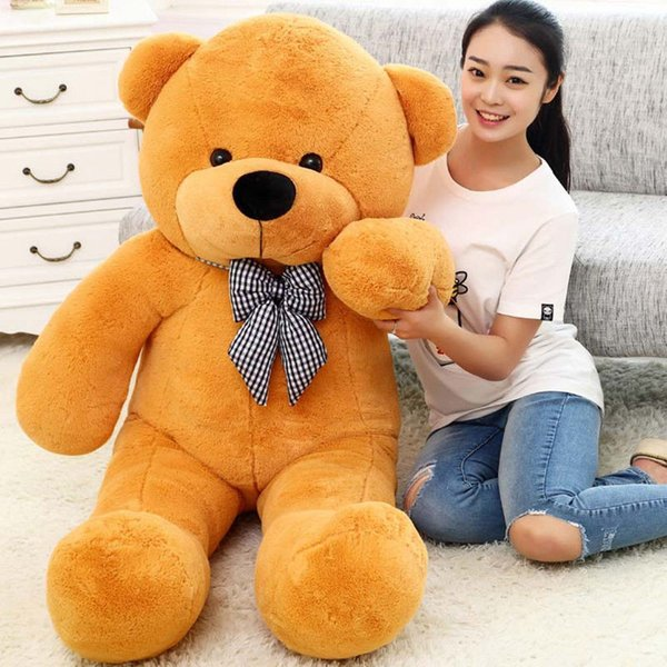 GIANT 80CM BIG CUTE PLUSH TEDDY BEAR HUGE light brown SOFT 100% COTTON TOY