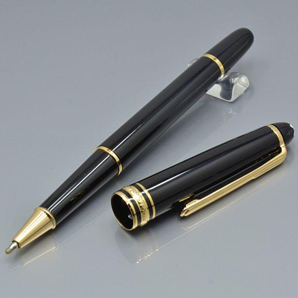 Sıcak satış Lüks Meisterstcek # 163 Set Siyah reçine Roller tükenmez kalem ile okul ofis malzemeleri marka yazma MB Hediye kalem