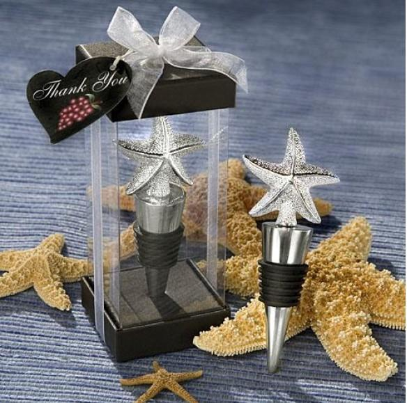 FREE SHIPPING+Galvanized Starfish Wine Bottle Stopper /Wine Pourer Favors very good for home decor Nice wedding favour gift