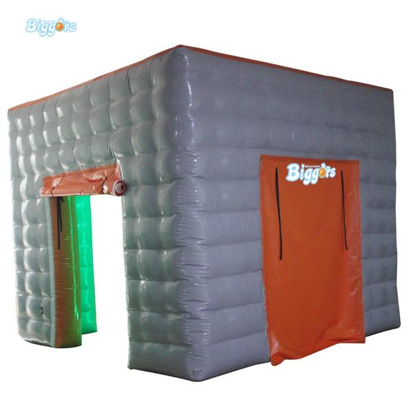 EN14960 Certificado Comercial Led inflável Cube Partido Tent Iluminação portátil Praça inflável Photo Booth Venda