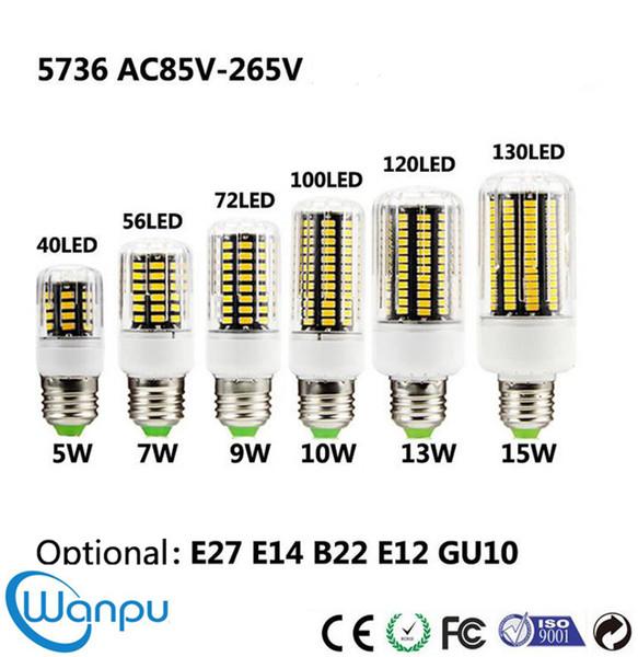 LED Mısır lamba 5736 SMD 5 W 7 W 9 W 10 W 13 W 15 W Ampul ışık Downlight Kristal avizeler Için 85-265 V ampul Aydınlatma