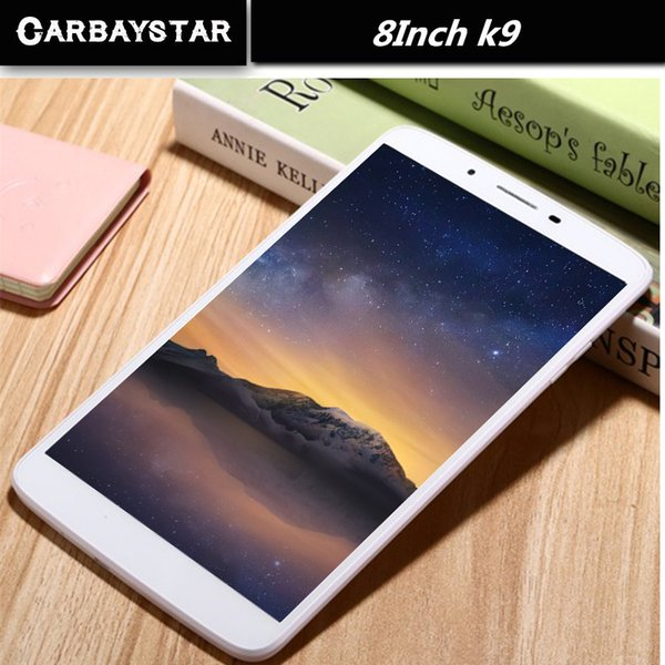 Wholesale- CARBAYSTAR Octa Core 8 inch Double SIM card K9 Tablet Pc 4G LTE phone mobile metal android tablet pc RAM 4GB ROM 64GB 8 MP IPS