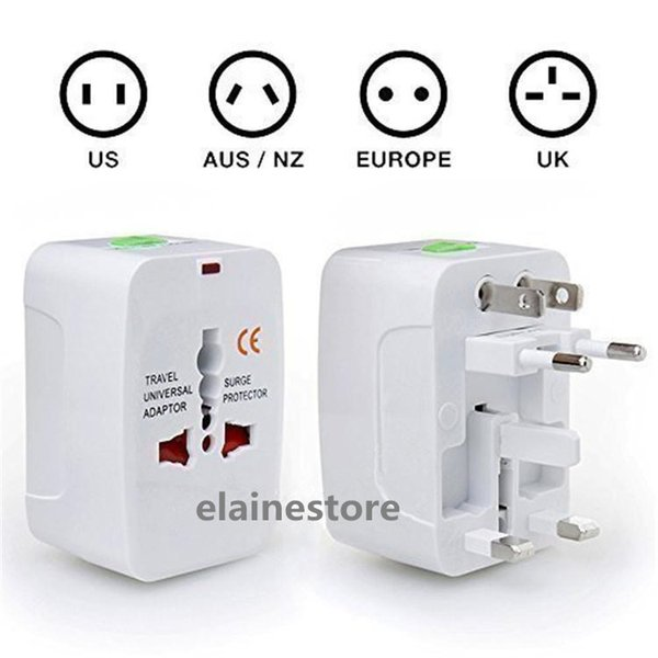 Alimentatore universale da viaggio per caricabatterie da muro per spina Surge Protector Universal International Alimentatore da viaggio plug (US UK EU AU AC Plug)
