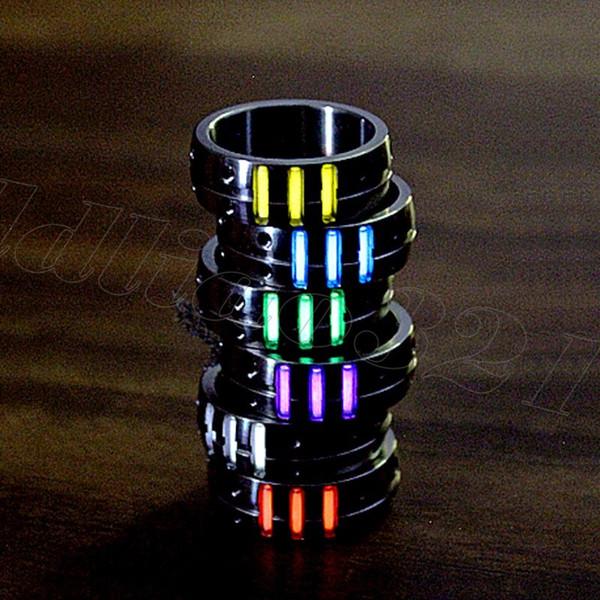 EDC Outdoor TC4 Solid Titanium Tritium Rings Collana pendente sopravvivenza di emergenza