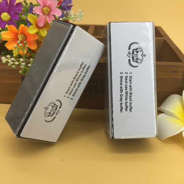 Wholesale- 2 pieces/lot nail polish nail buffer block nails accessoires vernis a ongle sanding block nail sponge bloc polissoir ongles