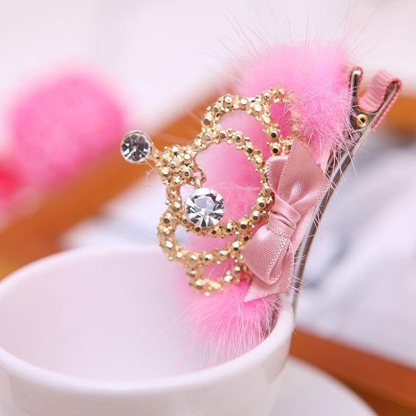 wholesale 10ps/lot South Korea popular cute Crown hairpin hair clip for girl children hair accessories