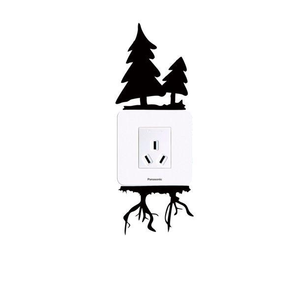 2017 Sıcak Satış Kişilik Ayrıntıları Hakkında Noel Ağacı Sevimli Sincap Işık Anahtarı Komik Vinil Çıkartmalar Ev Dekor Diy