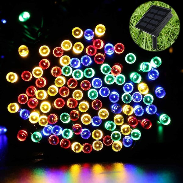 La corde solaire décorative de Noël LED allume 200 lumières de DEL pour l'arbre de Noël, la maison, la pelouse, le jardin, la partie, utilisation extérieure avec 8 modes de fonctionnement