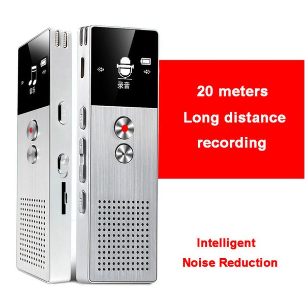 Wholesale-C6 8GB Professional Audio Recorder Metal Voice Tracker Portable Business Digital Voice Recorder Telephone Recording MP3 Player