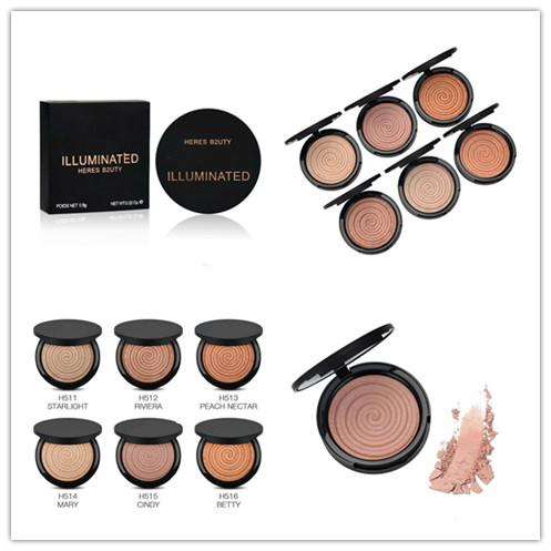 Christmas hot sale New brand! Makeup HERES B2UTY naked Face 12pcs Bronzers Highlighters ILUMINATED 0.9G DHL Free shipping best gift