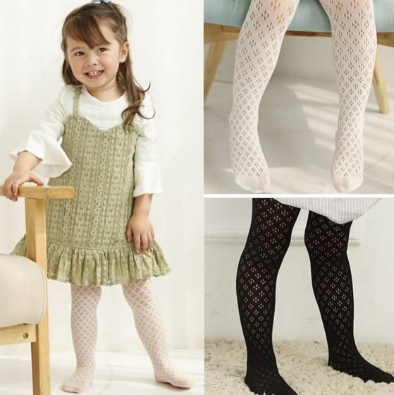 New Arrival Spring Summer Kids Clothes Highr Quality Baby Girls 3 Colors Leggings Fishnet Stocking Kids Clothes Good Match Stocking Q0888