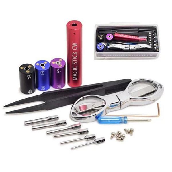 Vape Magic Stick CW boîte à outils maître Kuro Koiler Coil Jig bricolage outil kit bobine boîte à outils RDA chauffage fil enroulement Machine pour vaporisateur