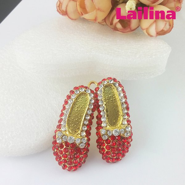 Strass ballet chaussures pendentif / strass danseur chaussures charme / chaussures rouges pour le ballet