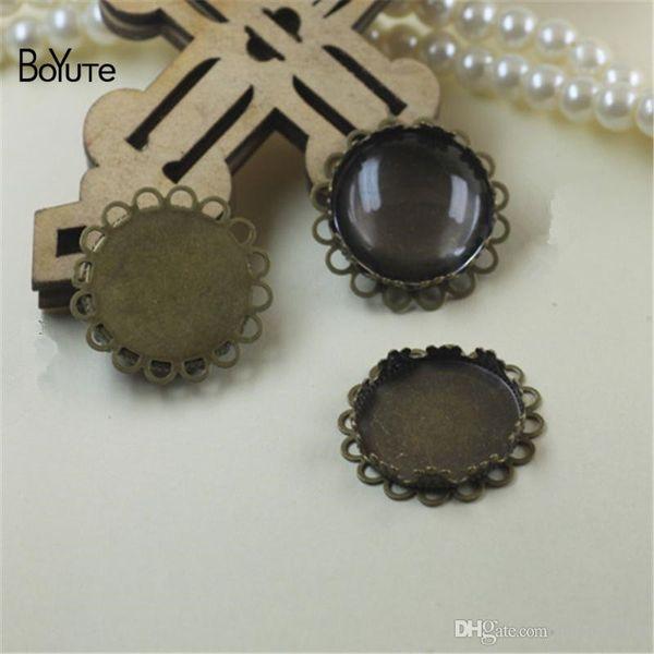 BoYuTe 10Pcs Round 20MM Hot sale Cameo Cabochon Base Setting Diy Blank Tray Bezel Jewelry Accessories Parts