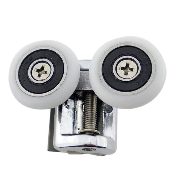 top popular Circular shower room pulley bathroom glass sliding door pulley sliding door adjustable roller bounce wheel household 2021