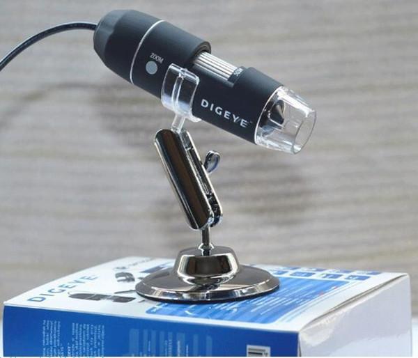 2 PCS Pratique Électronique 2.0MP USB 8 LED Appareil Photo Numérique Microscope Endoscope Loupe 50X ~ 500X Grossissement Mesurer Caméra Vidéo