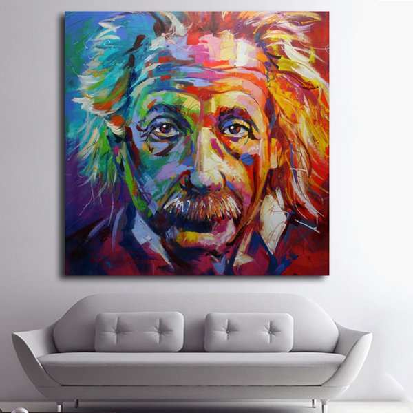 1 Pcs Albert Einstein Giclee Oil Painting Poster Pictures Canvas Painting Printed On Canvas Home Decor Wall Art No Framed