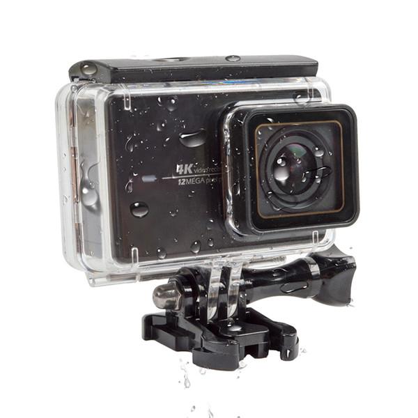 Atacado- para xiao yi 4 k touch screen habitação à prova d 'água case subaquática 45 m de proteção de mergulho xiaomi yi 2 ii câmera de ação acessórios