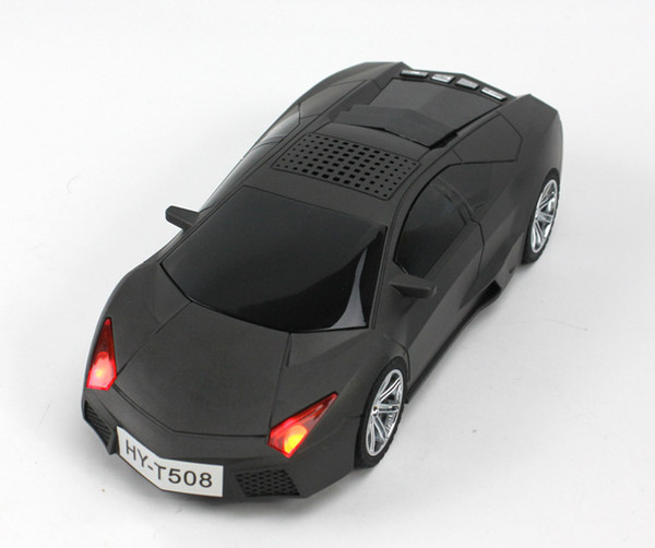 Wholesale- Car shaper LED Speaker for children gift Support TF Card/U Dish(MP3 Format),and Mp3/MP6 player/PC/PHONE FM