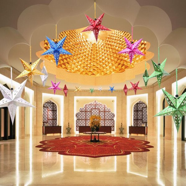 Hanging Christmas Decorations Ceiling.30cm Laser Paper Christmas Indoor Hanging Decorations Five Pointed Star Bar Ceiling Event Party Christmas Decorations Canada 2019 From Yiwuxiuxue Cad